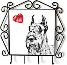 Schnauzer Cropped, Clothes Hanger with an Image of a Dog and Heart