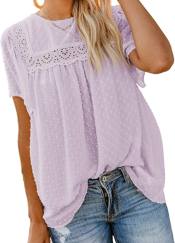 Plus Size Womens Summer Tops Blouses Ladies Chiffon Boho Flowy Tunic Shirts