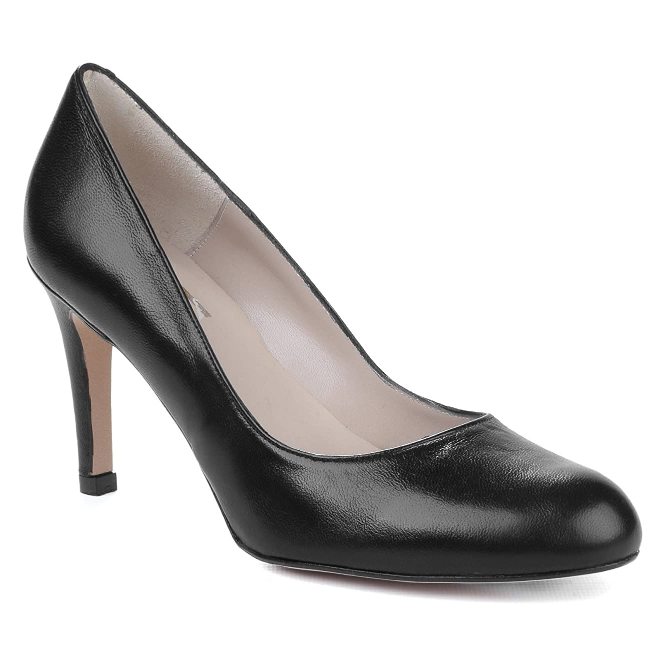 道徳教育何低下(リーバ) Riva レディース プレーン ハイヒール パンプス 婦人靴 オフィス フォーマル シューズ 女性用 (8 UK) (ブラック)