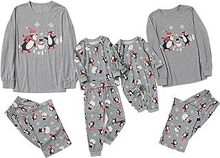 Fossen MuRope Pijamas Familiares para Familia de Mujer Hombre Entero Niña Niño Bebe de Pingüino - Pijama Navidad Familia B...