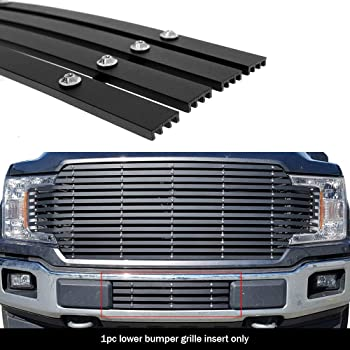 Fits 2018-2020 Ford F-150 Stainless Black Mesh Rivets LED Grille Insert Combo