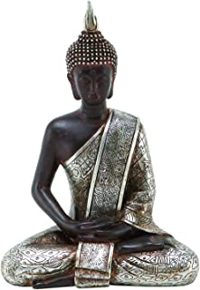Deco 79 Thai Buda meditando paz armonía Estatua, 8 pulgadas de alto