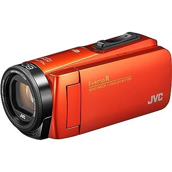 JVCKENWOOD JVC ビデオカメラ Everio R 防水 防塵 Wi-Fi 64GB内蔵メモリー ブラッドオレンジ GZ-RX680-D