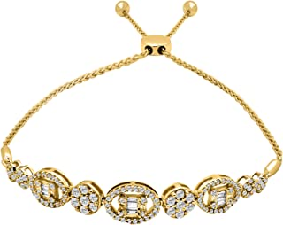 diamond flower cluster bracelet