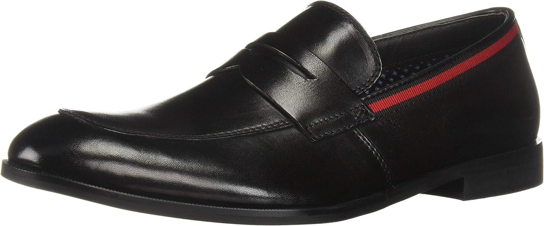 Steve Madden Men's EDMAND Loafer, Black Leather, 12