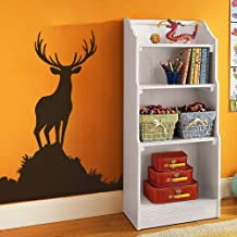 Buck Wall Decal Animal Wall Sticker Vinyl Deer Wall Decal Wildlife Hunting Decor Men's Room Art Decoration £¨X-Large,Black)