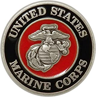US Marine Corps Nickel Silver Lapel Pin with Enamel. Made in USA.