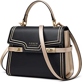 Leather Crossbody Bags for Women, Ladies Top-handle Bags with Shoulder Strap