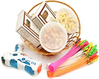 Ghasitaram Gifts Indian Sweets (Mumbai), Holi Hampers, Authentic Indian, Golden Metal Basket of Gujiya, Chocolate Gujiya, Kaju Biscuits,Mini Namkeen Gujiyas, Magic Ballons and Water Guns, 800 Grams