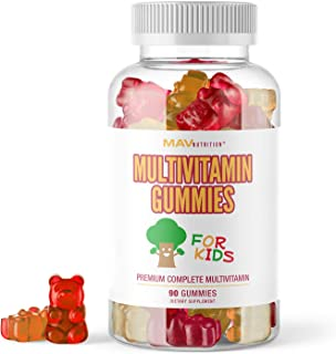 MAV Nutrition Multivitamins for Kids Gummies - All Essential Vitamins with Vitamin D and Zinc - Gluten Free, Non-GMO, Natu...