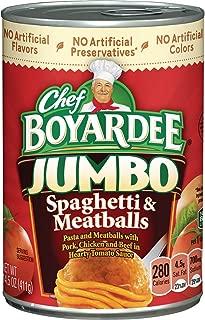 Chef Boyardee Spaghetti And Jumbo Meatballs, 14.5-Ounce Cans (Pack of 24)