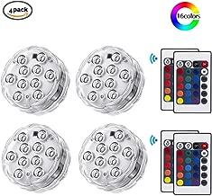 18 cm cambiantes L/ámparas LED Artificiales con Forma de Loto para Piscina Yalatan