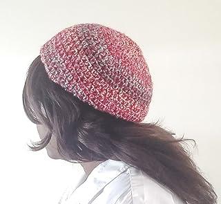 Mahogany Red Rosette Wool Women\u2019s Newsboy Cap Hat adjustable warm handmaid woman hat rose button motif