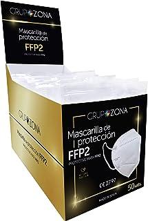 Mascarillas FFP2 blancas homologadas y fabricadas en España CE 2797, filtrado de 5 capas - GrupoZona - Mascarilla ffp2 pro...