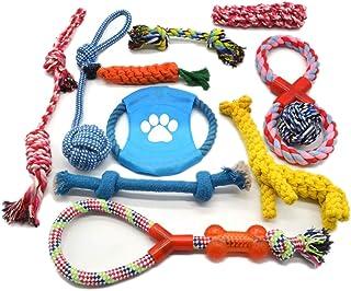 Odowalker 犬ロープおもちゃ 犬おもちゃ ロープ結び目 ぬいぐるみ 犬 おもちゃ ロープ 噛むおもちゃ フリスビー 運動不足 ペットおもちゃ ストレス解消 11個セット
