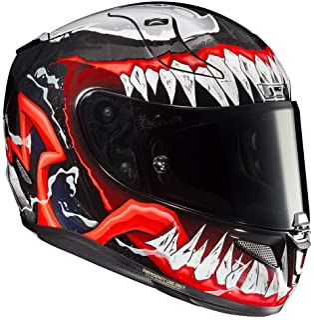 HJC Unisex-Adult Full Face RPHA-11 PRO Venom 2 (Black/Red/White, Large)