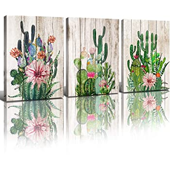 tropical home decor items amazon com wall decor for bedroom bathroom cactus wall art home  wall decor for bedroom bathroom cactus