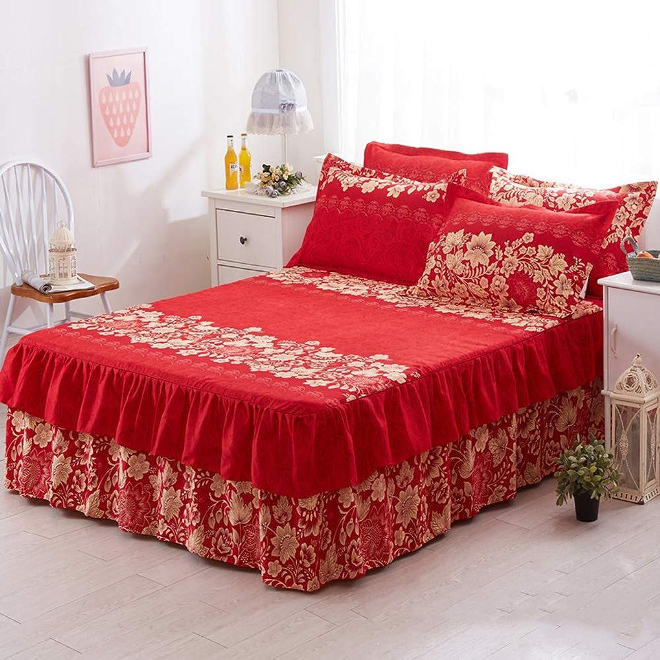 馬力大きさグリルTENCMGロマンチックな二層ベッドスカート - エレガントなシフォンベッドカバーサテンコットンベッドシーツ - ゴムバンド付き結婚式の装飾ベッドカバー,D,QUEEN(150x200+40cm)