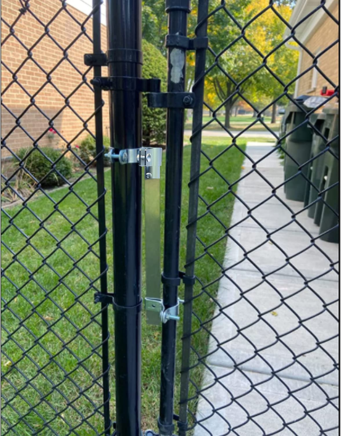 Automatic Gate Closer Shrapnel Door Closer for Side Gate,Self Closing Auto Backyard Gate Closer with Adjustable Closing Tension,Chain Link Fence Up to 4 Foot Wide Dog& Pool Door