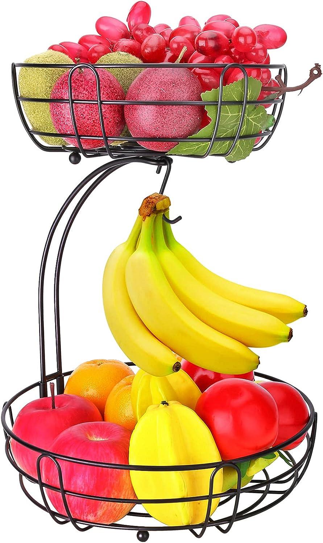 Fruit Basket for Kitchen Countertop Holder Fruits Black New sales Tier Virginia Beach Mall 2