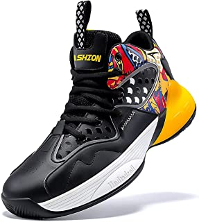 Kids Basketball Culture Shoes Boys Air-Cushion Comfortable Girls Basketball Shoes Breathable Casual Fashion Kids Shoes Non-Slip Boys Shoes Durable High Tops for Boys
