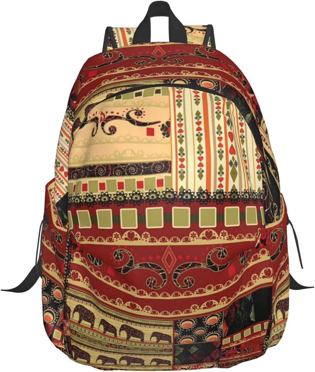 CWEI 17 Inch School Backpacks Pattern Max 77% OFF Asian online shop Style With Patchwork