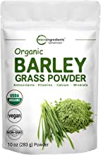 Sustainably US Grown, Organic Barley Grass Powder, 10 Ounce, Rich in Immune Vitamin, Fibers, Minerals, Anti...