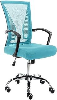 Modern Home Zuna Mid-Back Office Chair - Black/Aqua