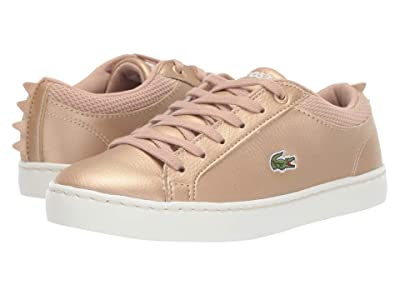 Lacoste Kids Straightset 319 1 (Little Kid) (Gold/Off-White) Kid