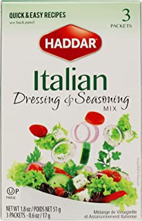 Haddar, Italian Dressing & Seasoning Mix 1.8oz, (3 Packets)