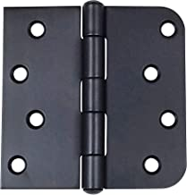 Hinge Outlet Oil Rubbed Bronze Stainless Steel Door Hinges - 4 Inch with 5/8 Inch Square, Non-Removable Pin, Highly Rust Resistant, 3 Pack
