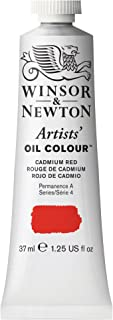 Winsor & Newton Artists' Oil Colour Paint, 37ml Tube, Cadmium Red