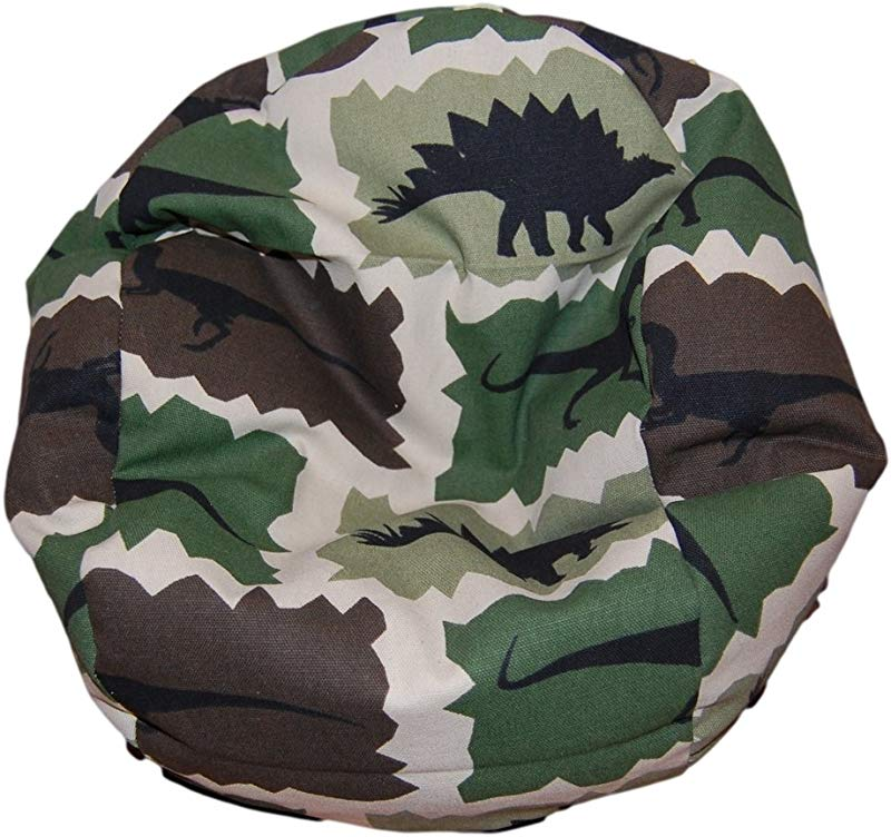 Ahh Products Dinosaurs Camouflage Bean Bag Chair For Dolls