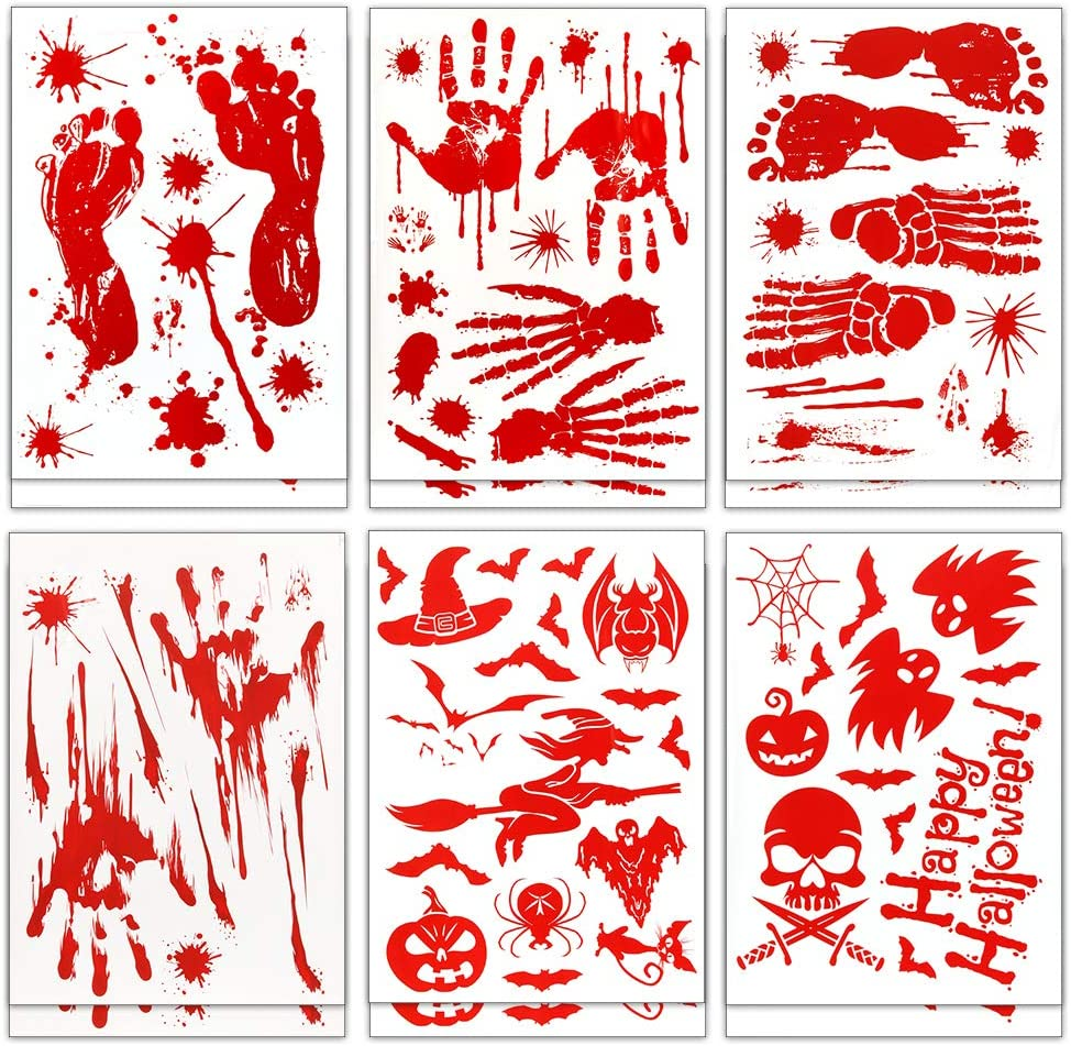 Coogam 150PCS Halloween Bloody Decoration Horro Decal Max 61% OFF sale Removable
