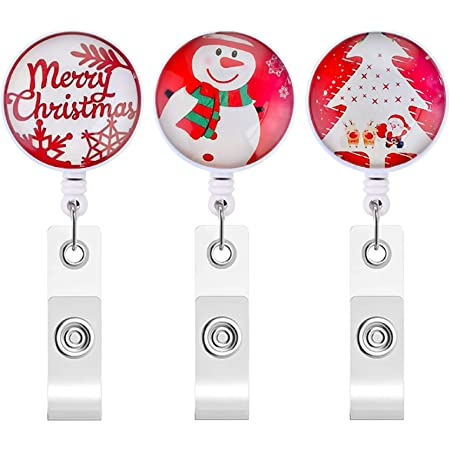 RN BadgeReel Glitter Holly Badge Reel Retractable Badge Badge Holder Christmas Nurse Badge Reel Badge Clip Badge Reel Badge Pull