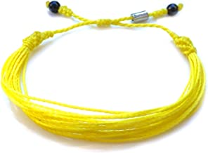 Yellow Awareness String Bracelet for Adenosarcoma, Bladder Cancer, Bone Cancer, Endometriosis, Ewings Sarcoma, Spina Bifida by Rumi Sumaq