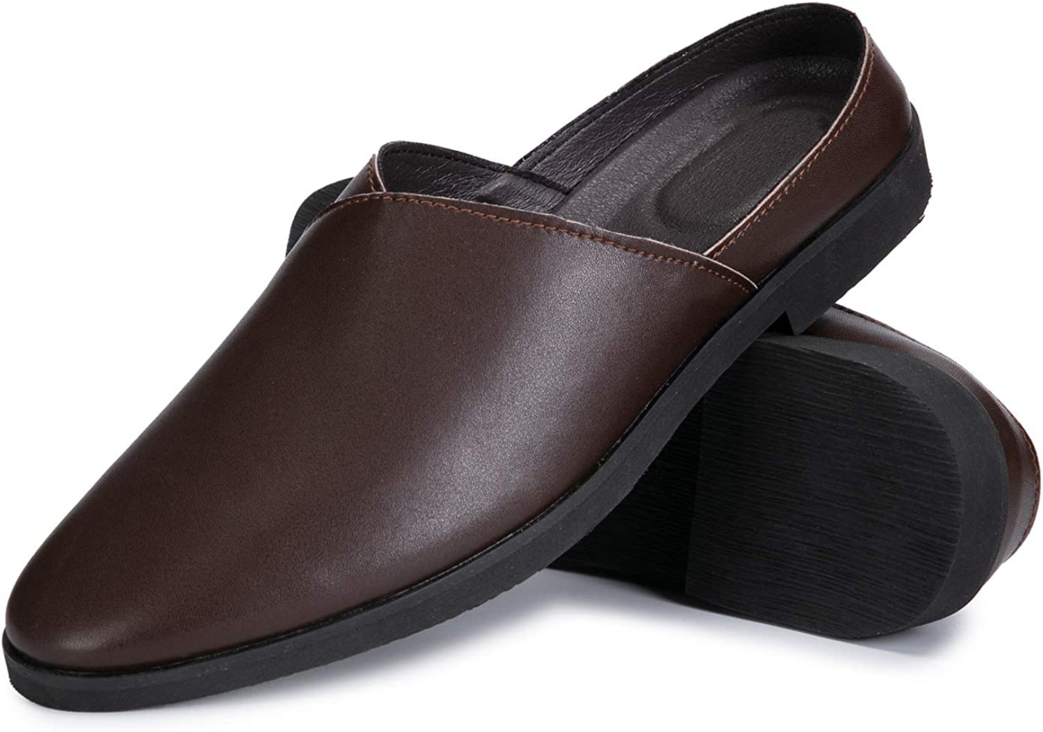 Business Oxford Loafer Backless Leather Shoes Moccasins for Men