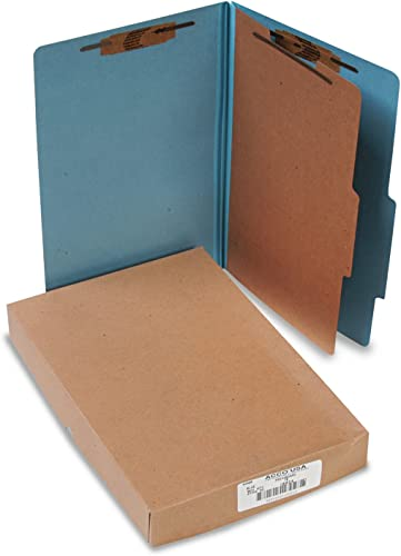 "ACCO Classification Folders, 2"" Exp, Legal, 1 Partition, Sky Blue"