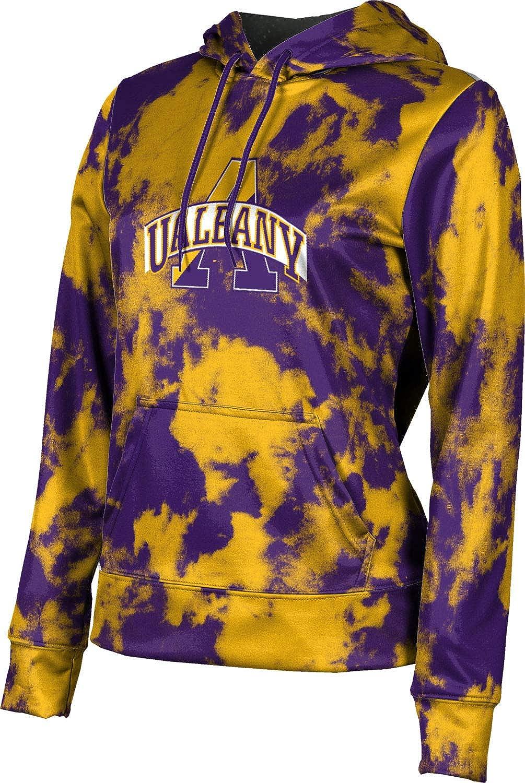 ProSphere University at Albany Girls' Pullover Hoodie, School Spirit Sweatshirt (Grunge)