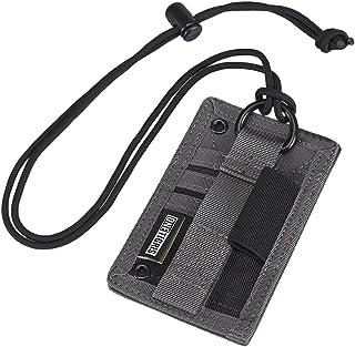 OneTigris IDカードホルダー ペンホルダー付き カードケース ミリタリー風 シンプル 仕事用・通学用・サバゲー用など カード収納整理 CORDURAナイロン