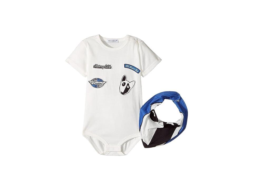 Dolce & Gabbana Kids Bulldog One-Piece (Infant) (White) Boy