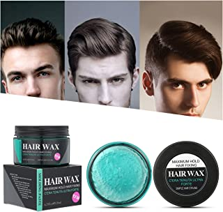 Strong Hold Hair Wax, LuckyFine Hair Styling Clay, Hair Styling Pomade for Man, Unisex Clear Hair Wax for Thickened, Non-Greasy Water Soluble Textured Hair Mud Cream for Gift 4.23.oz