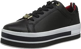 TOMMY HILFIGER Sneaker SATIN braun dunkelrot offwhite Damen