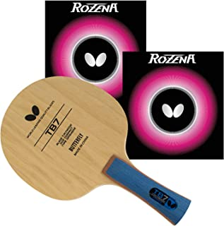 Butterfly Butterfly TB7 Pro-Line Table Tennis Racket Combo - Assembled with Rozena 2.1 Rubbers - Ilueight Ping Pong Paddle...