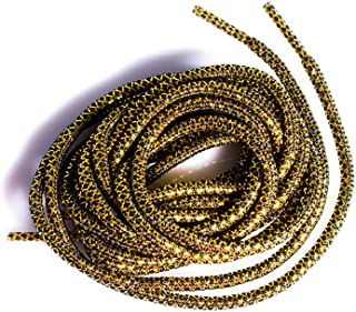 LitLaces - Gold Metallic Threaded Rope Shoe Laces for Sneakers and Shoes Polyester Fits Running Shoes