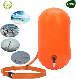 E-Onfoot Swim Buoy Open Water, Swimming Life-Saving Drift Bag for Open Water Swimmers, Highly Visible Buoy Float for Safe Swim Training