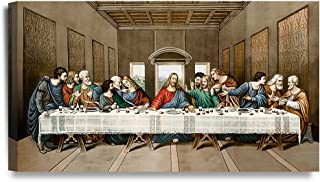 DECORARTS -The Last Supper, Leonardo da Vinci Classic Art Reproductions. Giclee Canvas Prints Wall Art for Home Decor 32x18x1.5