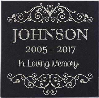 Lara Laser Works in Loving Memory of Custom Name Memorial Personalized Grave Stone Marker | Granite