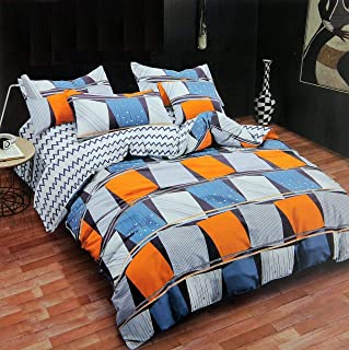 "Fabture bedsheet for Double Bed (Glace Cotton of 140GSM bedsheet with 2 Pillow Cover Size-90/100 inches) Pillow (18/28"" inches)"