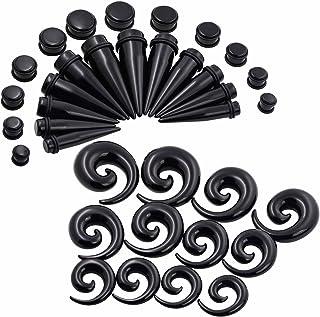 AC/_ Set 36Pcs Men Women Acrylic Glow Ear Taper Plug Stretcher Gauges Expande GN